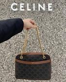 ■專櫃88折■ 全新真品■Celine Triomphe 凱旋門帆布 Patapans 鍊條包
