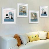 客廳裝飾畫 現代簡約掛畫三聯畫餐廳臥室墻畫有框畫地中海壁畫 單幅 圖案備註