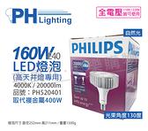 PHILIPS飛利浦 LED 160W 4000K 自然光 130度 E40 全電壓 IP40 天井燈專用燈泡 _ PH520401