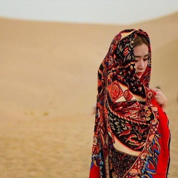 棉麻大方巾民族風復古棉圍巾絲巾