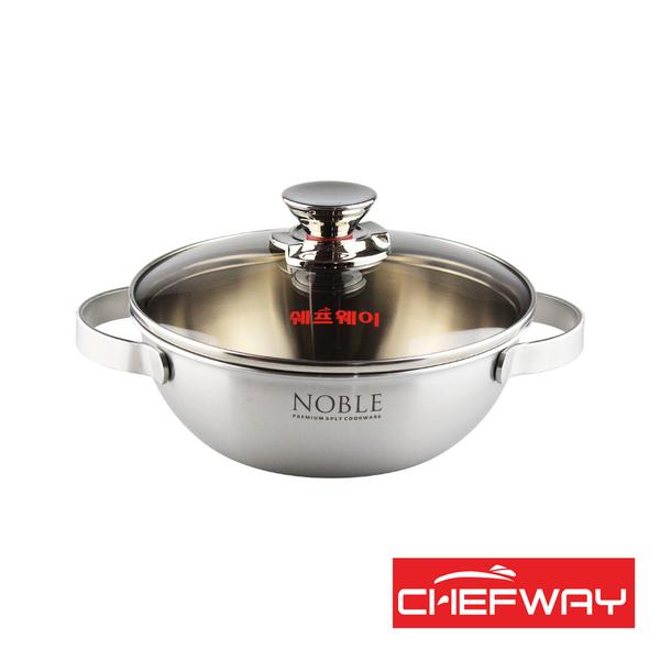 韓國 CHEFWAY 諾貝系列不銹鋼宮廷鍋20cm
