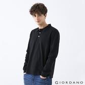 【GIORDANO】男裝素色落肩POLO衫 - 02 黑