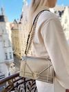 ■現貨在台■專櫃77折■全新真品Dior Diorama 頂級小牛皮鏈式肩背包 香檳金色