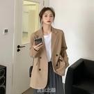 西裝外套女韓版寬鬆2020新款春秋季網紅設計感小個子職業西服上衣 快速出貨