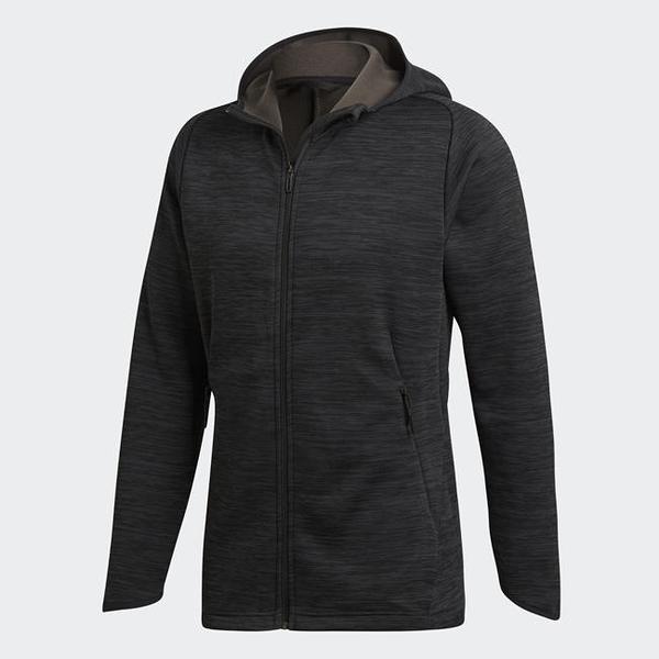 ADIDAS FREELIFT CLIMAHEAT 男裝 外套 連帽 休閒 保暖 拉鍊口袋 黑【運動世界】DM4377