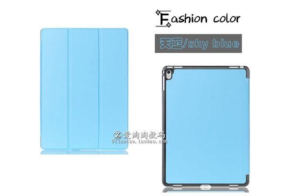 King*Shop--iPad Pro 9.7吋 專用平板皮套三折斜立  A1673 A1674 A1675