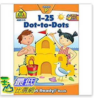 [106美國暢銷兒童軟體] 1-25 Dot-to-Dots (A Get Ready Book, Ages 4-6)