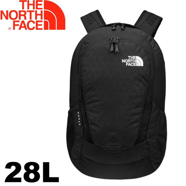 【The North Face 美國 28L 15吋電腦背包《黑》】CHJ0/電腦包/後背包/通勤包★滿額送