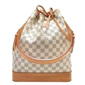 LOUIS VUITTON LV 路易威登 白棋盤格肩背水桶包 Noe N42222【二手名牌BRAND OFF】