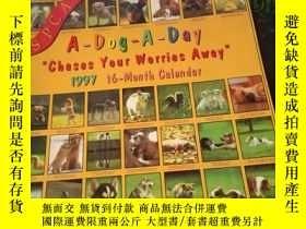 二手書博民逛書店A-Dog-A-Day罕見Chases Your Worries Away 1997 16-Month Calen