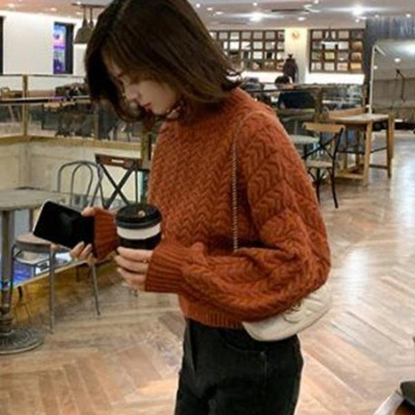 現貨特價 網紅爆款女裝 系帶小心機短款毛衣女秋冬新款韓版寬松針織衫