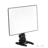 攝影燈雙色溫LED超薄攝像補光燈直播冷暖可調柔光燈 qz2115【野之旅】