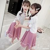 漢服女童夏裝洋裝中國風兒童裙子洋氣公主中童大童女孩古裝超仙 蘇菲小店
