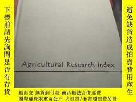 二手書博民逛書店Agricultural罕見Research Index 1.2