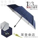 雨傘 萊登傘 超大傘面 可遮三人 抗UV 不回彈 無段自動傘 銀膠 Leighton 藍色馬球