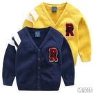 字母R針織毛衣開衫外套線衫 長袖上衣 小...
