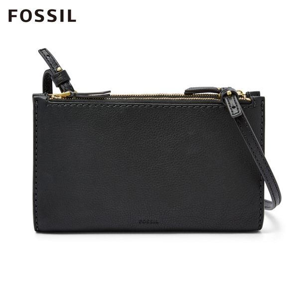 FOSSIL SAGE 黑色多夾層真皮包 SLG1175001