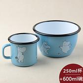 Muurla 嚕嚕米杯碗組 杯 250ml + 碗 600ml 天空藍