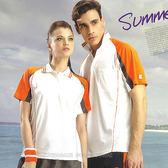 日本名牌 Kawasaki  男女吸濕排汗短POLO衫-白橘#KW2206A-#K2206A