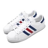 adidas 休閒鞋 Coast Star 白 藍 紅 男鞋 基本款 百搭款 運動鞋【PUMP306】 EE6198