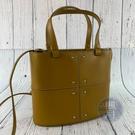 BRAND楓月 TOD'S 黃色 皮革 皮質 金屬造型 小托特包 兩用包 隨身小包