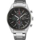 SEIKO 精工 喬治亞羅設計三眼計時太陽能腕錶(SSC803P1)V176-0BH0D