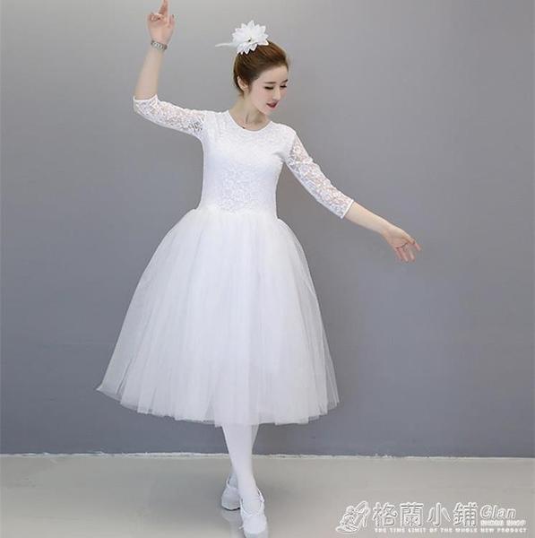 芭蕾舞裙成人女兒童芭蕾練功服半袖舞蹈網紗裙小天鵝蓬蓬裙演出服 喜迎新春 全館5折起
