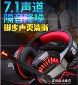 頭戴式耳機-因卓 G2000電腦電競耳機頭戴式游戲7.1聲道絕地求生吃雞聽聲辯位有線 多麗絲旗艦店