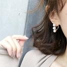 新款耳環女氣質百搭個性時尚圓圈圈珍珠耳墜 sxx329 【極致男人】