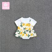 新生兒衣服6-12個月寶寶連體衣女嬰兒夏裝公主哈衣包屁衣百天禮服 小巨蛋之家