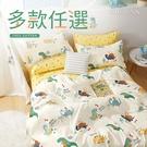 100%精梳純棉單人三件式鋪棉兩用被床包組-多款任選 台灣製 3.5X6.2尺 棉被 四季被 北歐風