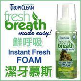 *WANG*【二瓶組免運】【美國Fresh breath鮮呼吸】《潔牙慕斯》幫助寵物清新的好口氣-4.5oz(133ml)