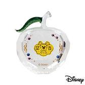 Disney迪士尼金飾 平平安安 黃金/水晶蘋果擺件