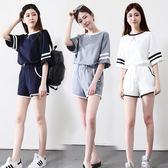 短袖短褲運動套裝女夏新款少女學生寬鬆跑步休閒兩件套女 【korea時尚記】