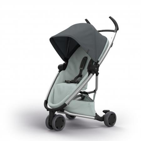 Quinny Zapp X FLEX 嬰兒手推車(三輪/獨立把手)-標準版(深灰篷灰布)贈提籃+雨罩[衛立兒生活館]