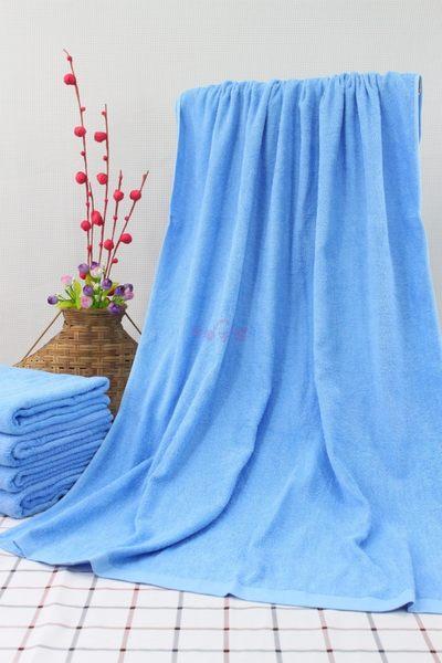 素色加大浴巾 / 水藍色 / 450g 90x150cm 純棉 / 美容民宿用 / 台灣專業製造【快樂主婦】