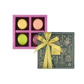 【Diva Life】音樂聖誕 馬卡龍 純禮盒 4入 三包裝(比利時馬卡龍)