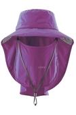 荒野 WILDLAND 男女 抗UV可脫式遮陽帽 防曬工作帽/登山健行休閒帽/遮臉大圓盤帽 W1030-60紫色