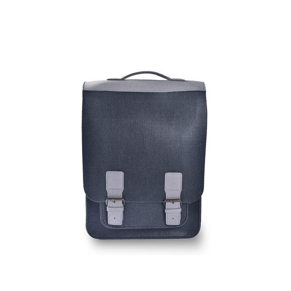 (七折)M.R.K.T. Kendrick Backpack 素皮革工業風設計款後背包-198970C CHARCOAL(鐵灰色)