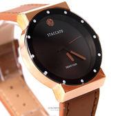 手錶 正韓STACCATO圓點皮革腕錶 柒彩年代【NEK1】單支