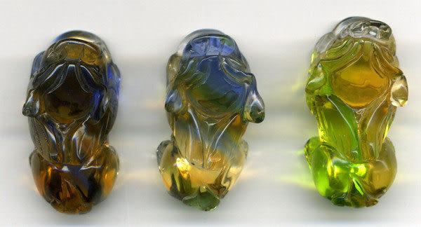 鹿港窯~開運古法水晶琉璃雕吊飾~貔貅◆ 附精美包裝◆免運費送到家