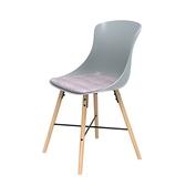 (組)特力屋萊特塑鋼椅-櫸木腳架30mm+灰椅背+粉座墊