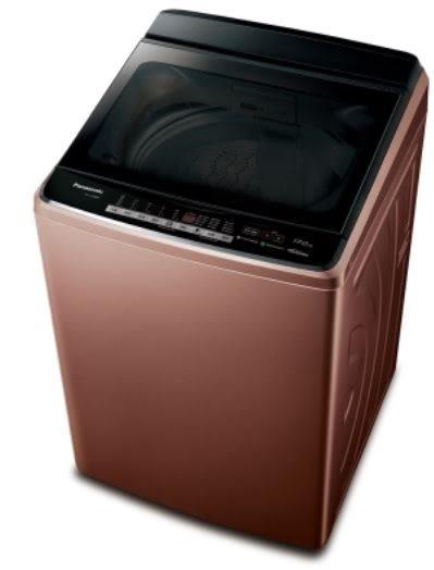 40℃溫泡洗 三段溫水洗衣 [國際牌17公斤變頻洗衣機NA-170GB-T]雙科技ECONAVI智慧節能+奈米水離子