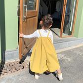 女童吊帶褲 正韓女童夏裝純棉寬管褲九分褲兒童裙褲褲裙小童寶寶褲子-Ballet朵朵