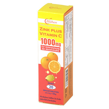 轉換必備 安博氏 德國原裝進口 速補美C含鋅 發泡錠 20錠/支 口感順暢 C+鋅