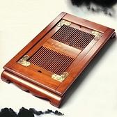 原木茶盤-抽屜式排水/蓄水木製茶盤2款68ac46[時尚巴黎]