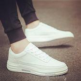 厚底鞋秋季新款小白鞋男韓版透氣板鞋男士白鞋休閒鞋 雲朵走走