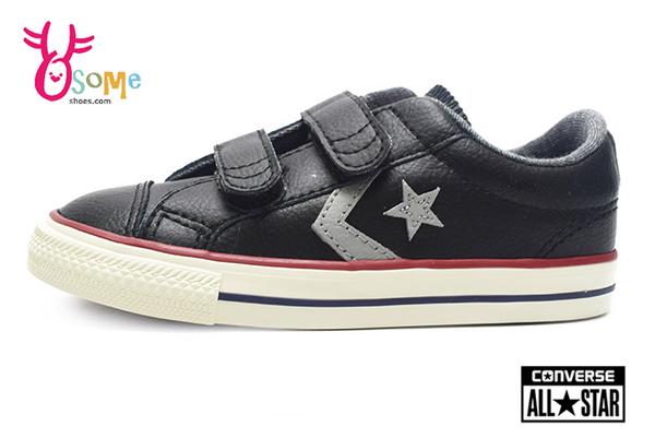 Converse帆布鞋 童鞋 寶寶休閒鞋 Star Player 魔鬼氈 帆布鞋 出清 H9869#黑色◆OSOME奧森鞋業