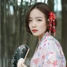 日系和風縐布髮飾髮夾 和服漢服寫真流蘇邊夾 日式頭飾