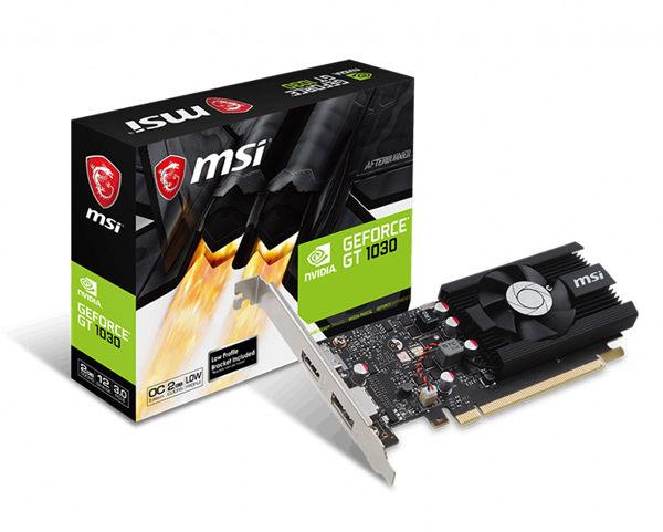MSI 微星 GeForce GT 1030 2G LP OCV2 顯示卡【刷卡含稅價】